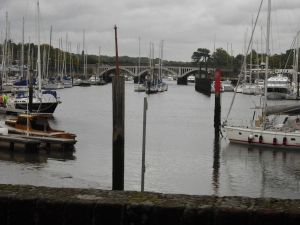 The view from the Jolly Sailor at the Upper Hamble