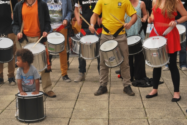 Drumming workshop at Back2Black