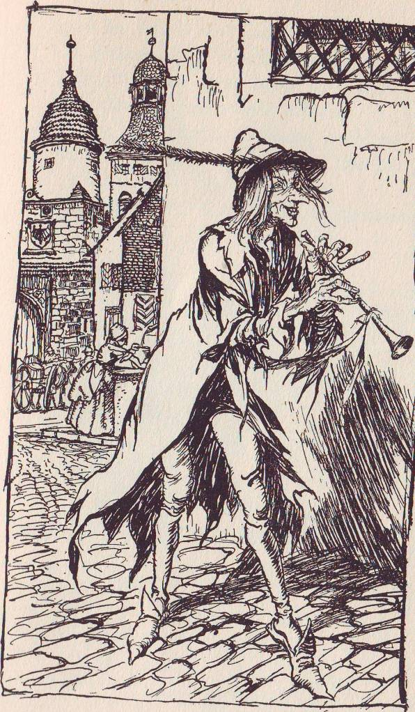 The pied piper of Hamelin by Robert Browning illustrated by Arthur Rackham.