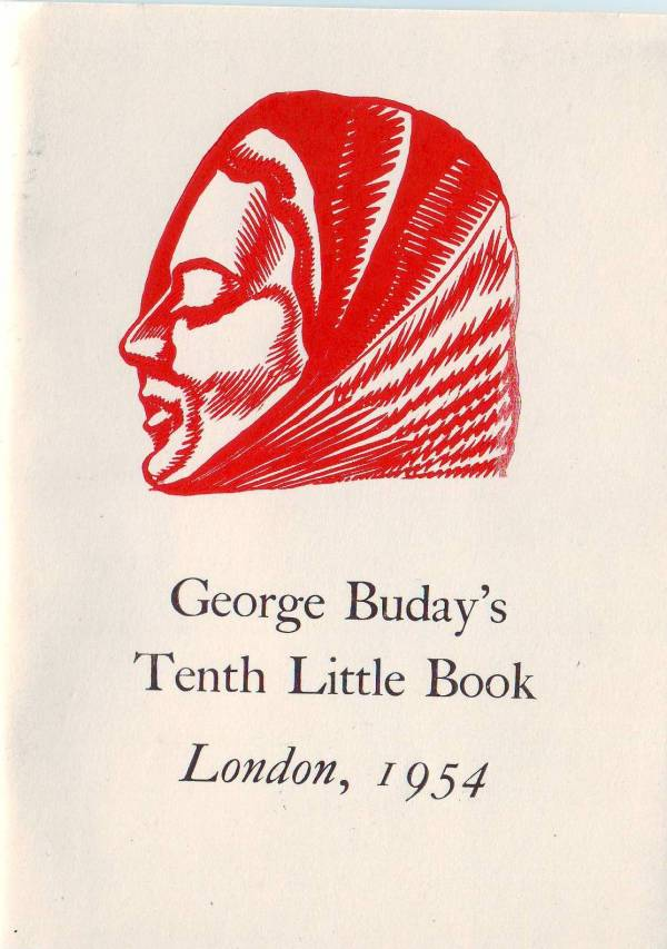 George Buday's tenth little book